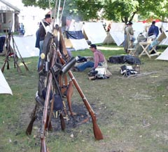 Rifles at Civil War Weekend at Monroe, NY.