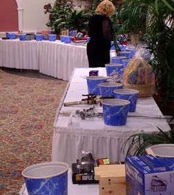 Prizes at Orange County Federation of Sportsmen's Clubs Dinner, 2003