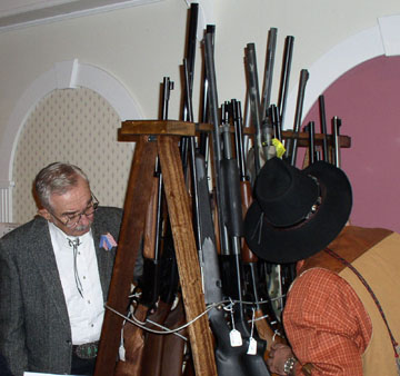 """Wall of Guns"" at Orange County Federation of Sportsmen's Clubs Dinner, 2003"