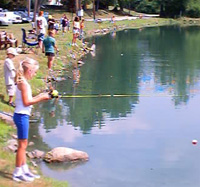 Kids Fishing Contest Run by the Orange County Trapppers