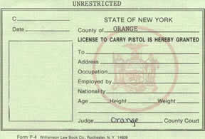 NY gun license from  2004