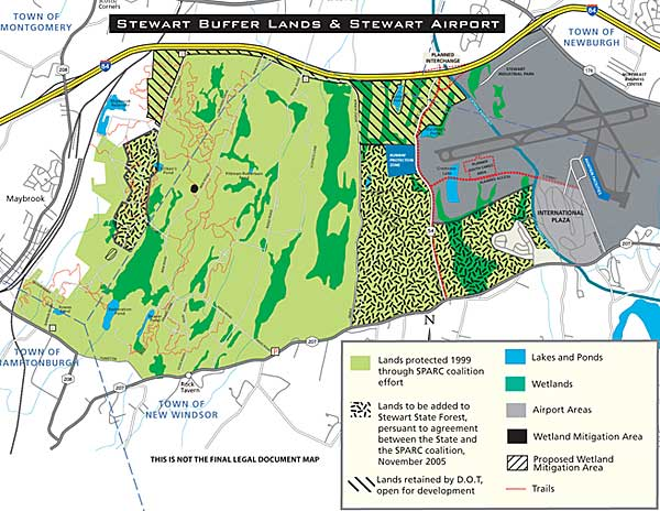 Stewartr Buffer Lands & Stewart Airport agreement map.